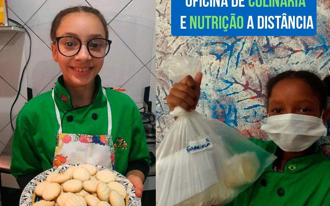 O projeto Nutri-Ação da Rede Cultural Beija-Flor lança sua oficina de biscoito a base de manteiga