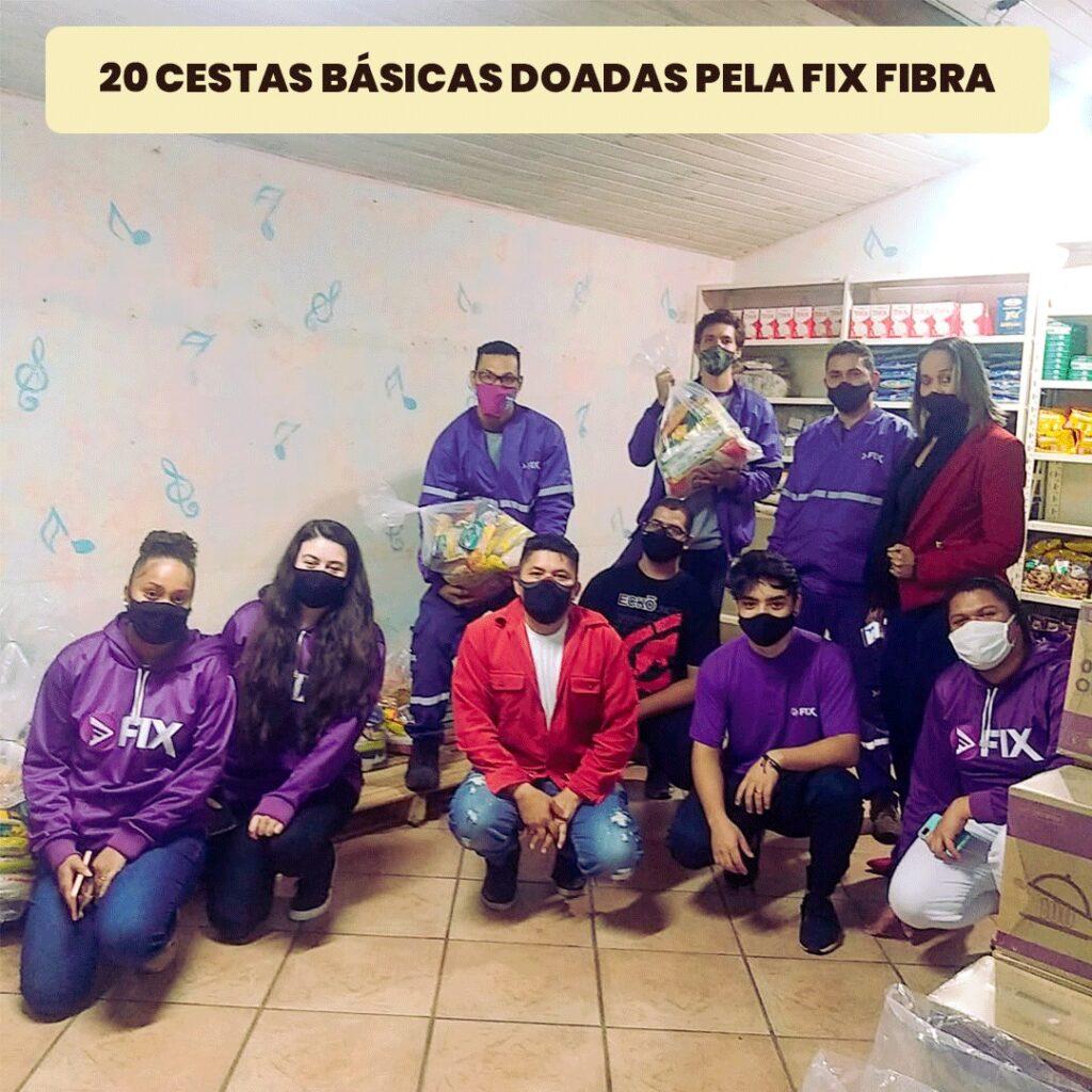 RCBF recebe doações da Fix Fibra